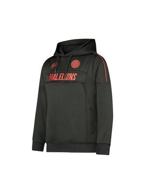 Malelions Junior Junior Sport Warming Up Hoodie - Black/Red