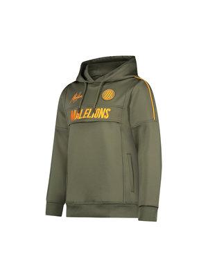 Malelions Junior Junior Sport Warming Up Hoodie - Army/Orange