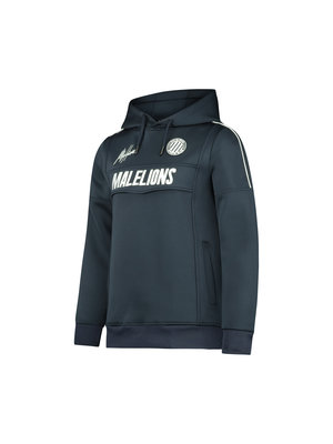 Malelions Junior Junior Sport Warming Up Hoodie - Navy/White