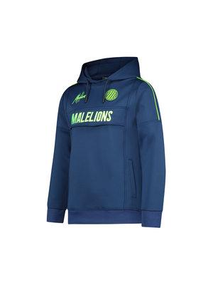 Malelions Junior Junior Sport Warming Up Hoodie - Navy/Green
