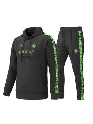 Malelions Sport Sport Tracksuit Warming Up - Antraciet/Neon Green