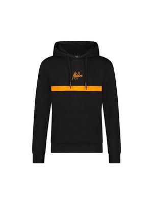 Malelions Men Tonny Hoodie - Black/Orange