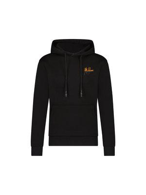 Malelions Men Split Hoodie- Black/Orange