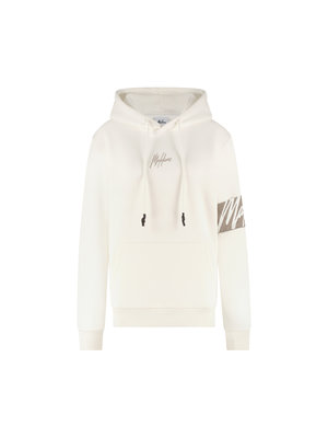 Malelions Women Women Captain Hoodie - Off-White/Taupe