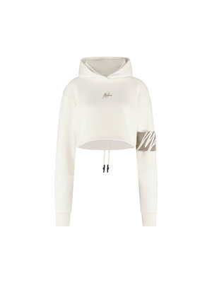 Malelions Women Women Captain Crop - Off-White/Taupe
