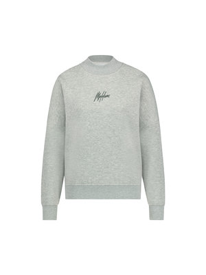 Malelions Women Women Brand Sweater - Grey Melange/Dark Antra