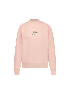 Malelions Women Women Brand Sweater - Mauve/Dark Antra