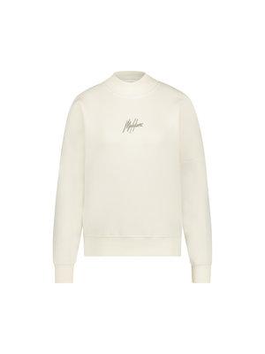 Malelions Women Women Brand Sweater - Off-White/Taupe