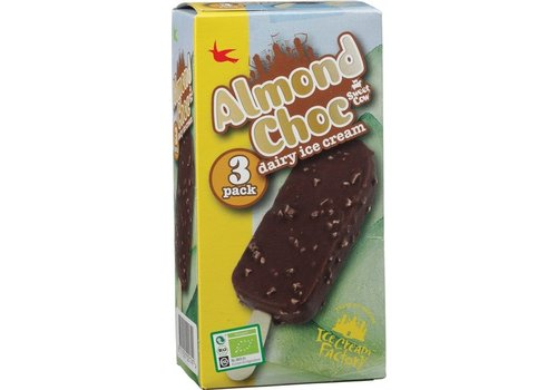 Ice Cream Factory Sweet Cow Almond Choc 3-pack Biologisch