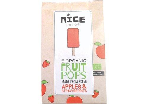 NICE Fruitijsjes Appel Aardbei Biologisch