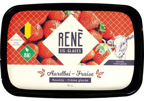 Rene's ijs Aardbei Roomijs Biologisch