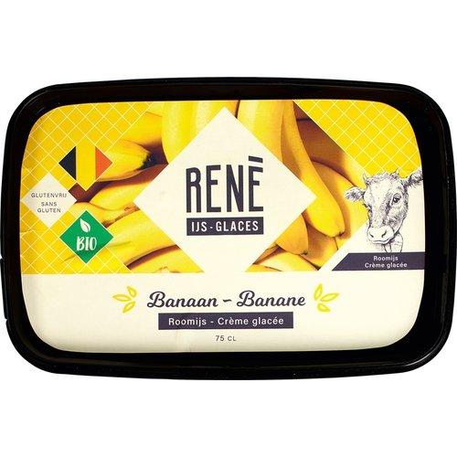 Rene's ijs Banaan Roomijs Biologisch