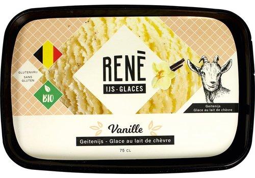 Rene's ijs Vanille Geitenijs Biologisch