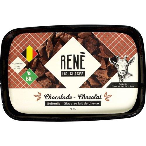 Rene's ijs Chocolade Geitenijs Biologisch