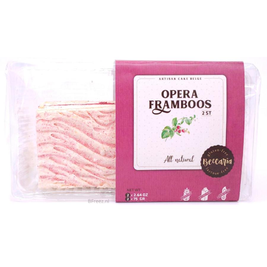 Opera Framboos Gebak