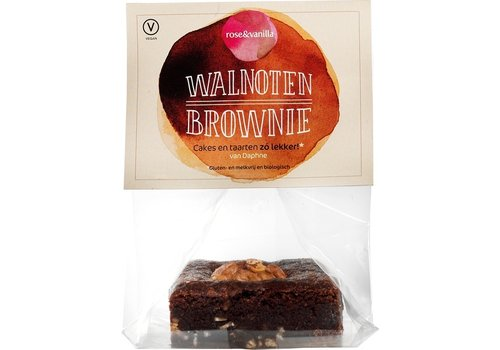 Rose&Vanilla Walnoten Brownie