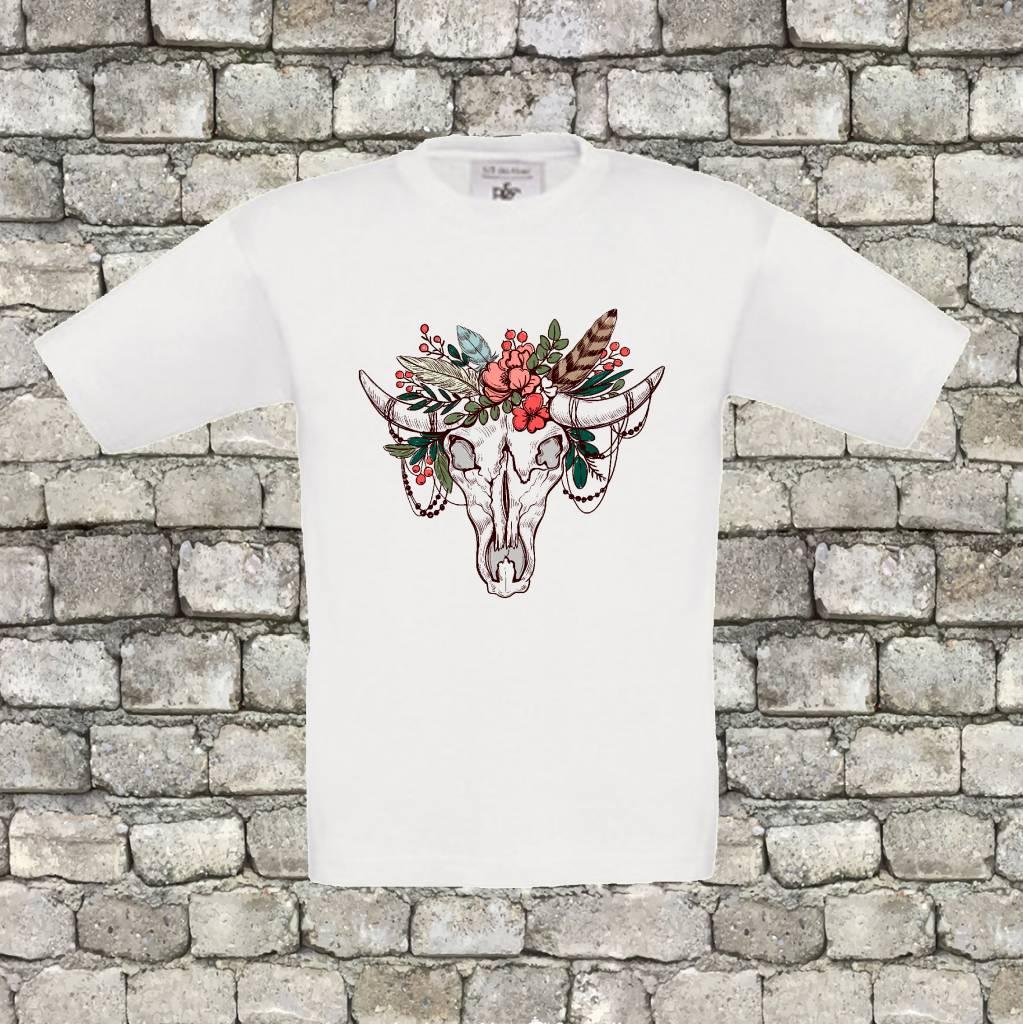 Bull skull t-shirt - geen verzendkosten