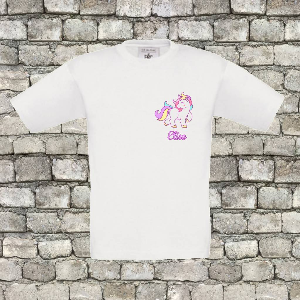 T-shirt unicorn met naam - geen verzendkosten