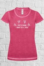 Keep staring rolstoel t-shirt - geen verzendkosten