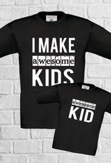 Matching t-shirts Awesome - geen verzendkosten