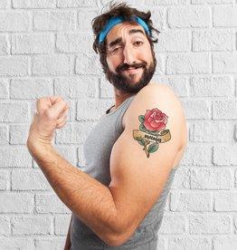 Tijdelijke tattoo roos - mama
