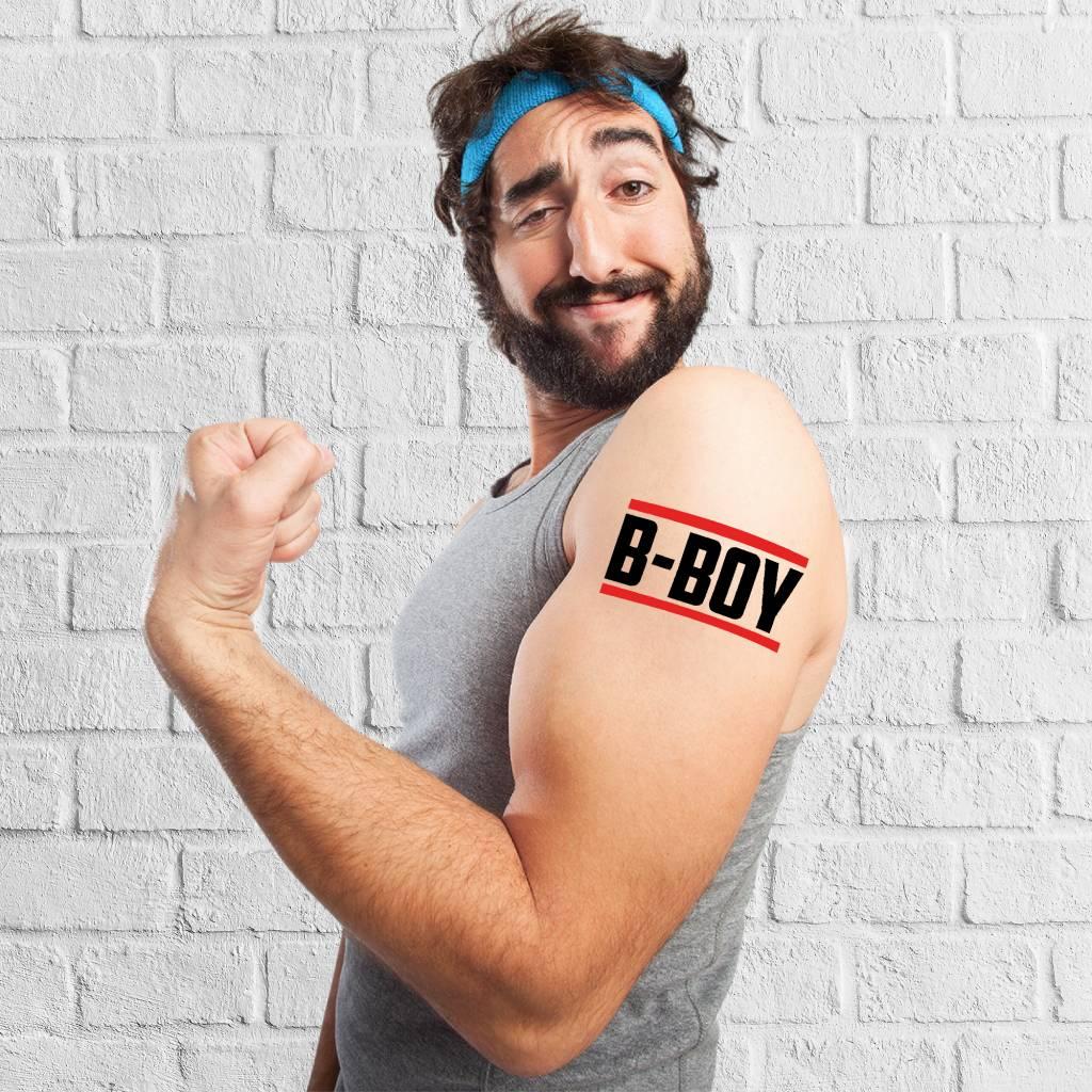 Tijdelijke tattoo B-boy