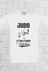 Judo t-shirt wit - geen verzendkosten