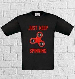 Fidget spinner t-shirt - rood