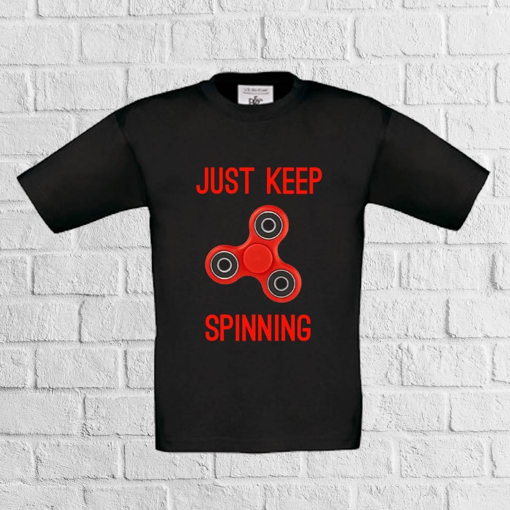 Fidget spinner t-shirt - geen verzendkosten
