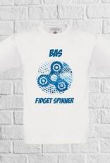 Fidget spinner dots t-shirt met naam - geen verzendkosten
