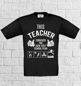 This teacher survived 2016-2017 met the floor is lava t-shirt