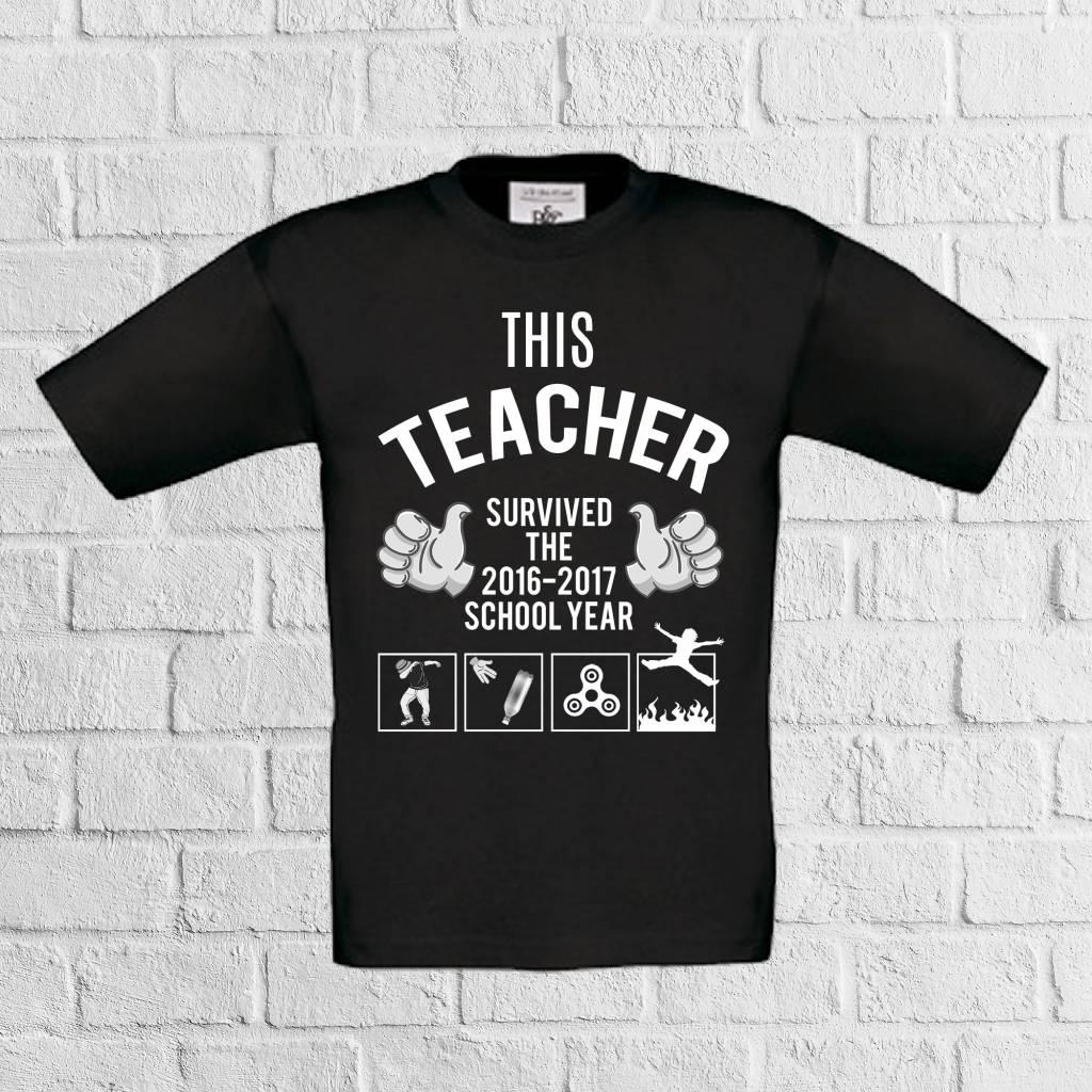 This teacher survived 2016-2017 met the floor is lava t-shirt - geen verzendkosten