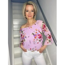 BLOUSE FLOWERS LILA
