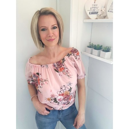 REBEL-C FAHION BLOUSE ROSE ROSES
