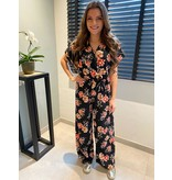 REBEL-C FASHION JUMPSUIT BLACK FLOWER