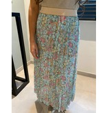 REBEL-C FASHION ROK PLISSE GREEN FLOWER
