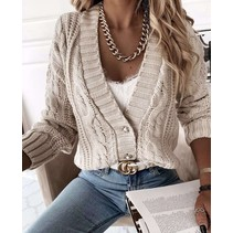 CARDIGAN MUSTHAVE BEIGE