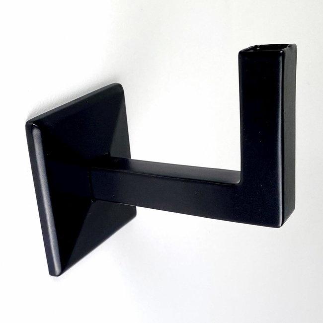 Zwarte leuningdrager Model K