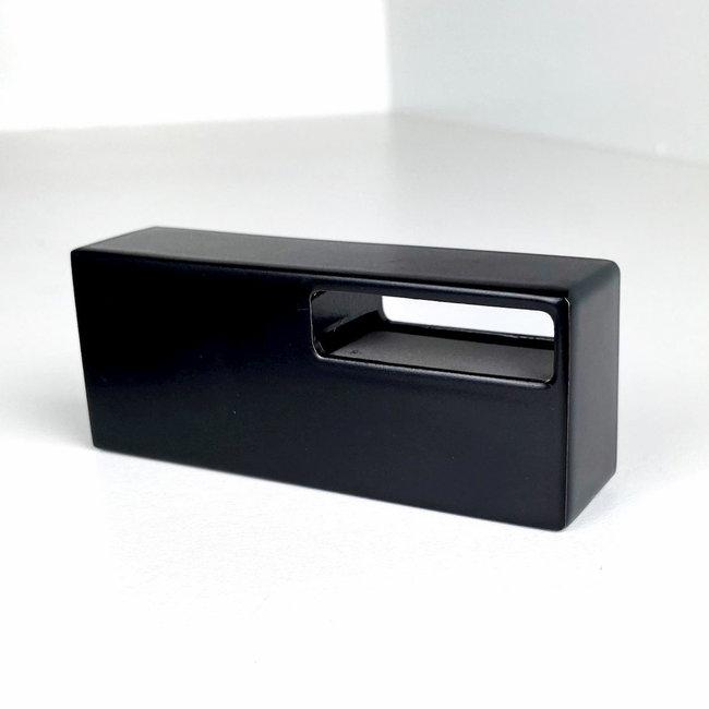 Zwarte leuningdrager Model M