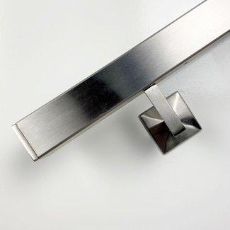 RVS trapleuning Vierkant - inclusief leuningdragers