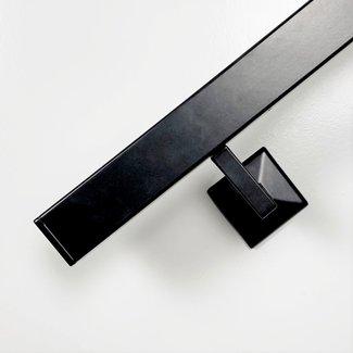 Zwarte trapleuning Vierkant - inclusief leuningdragers