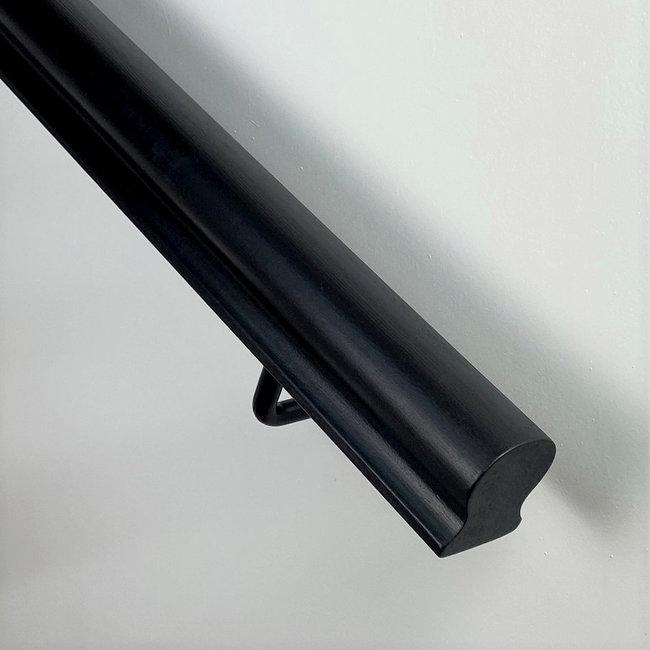 Houten trapleuning sleutelgat: Hardhout - Zwart