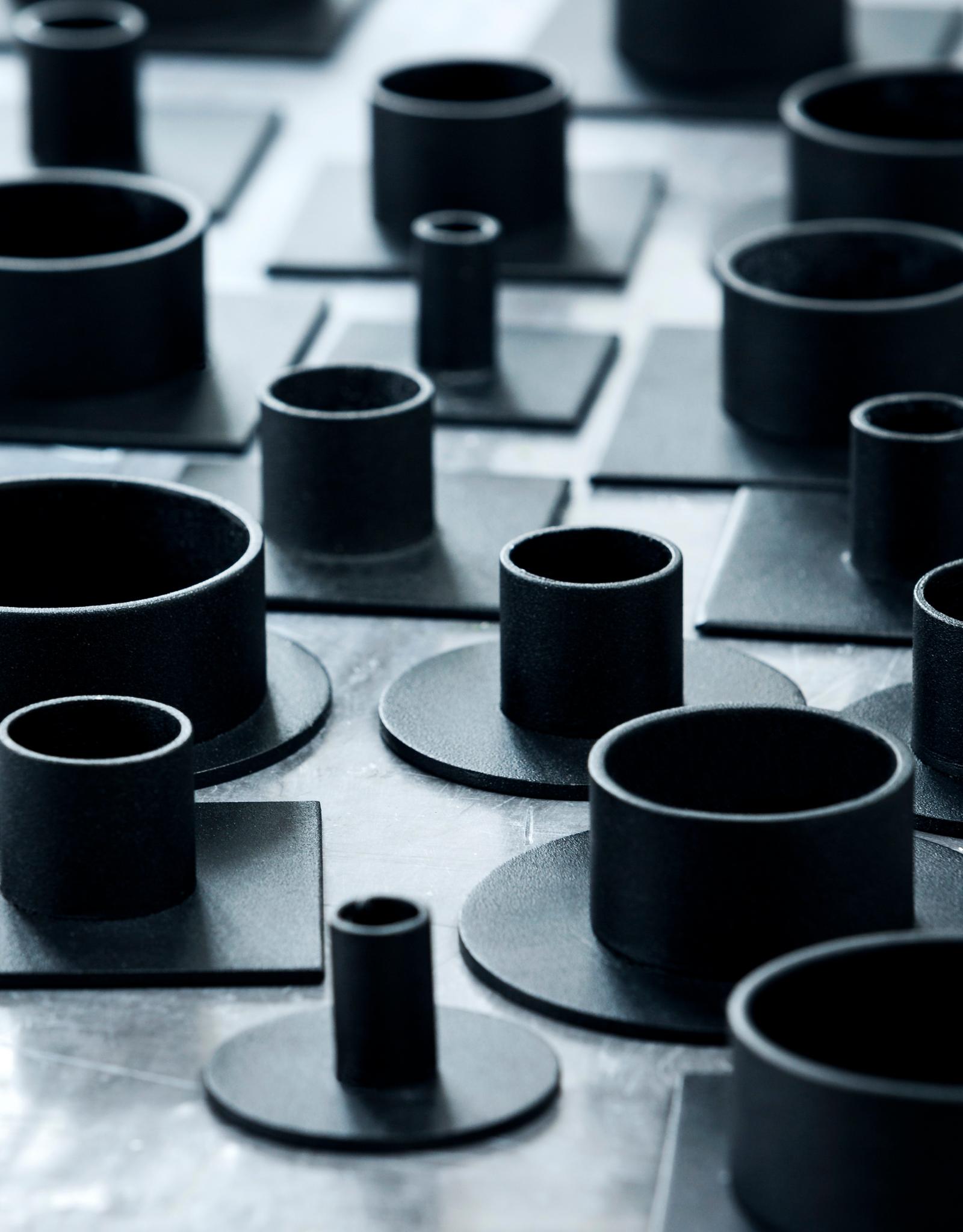Kunst Industrien Kandelaar | Circle Zwart