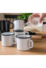 Muurla Koffiemok Emaille | Basis Wit 250ml