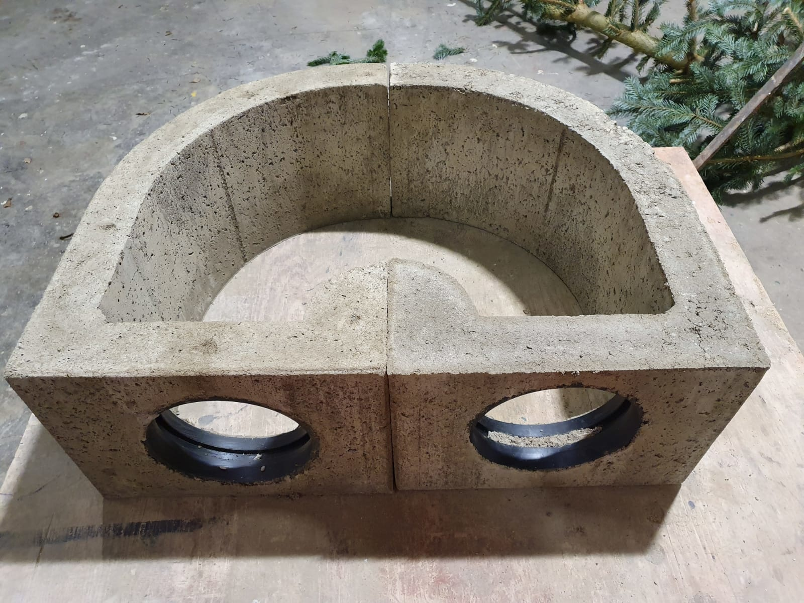 "Trapperprofi Kunstbau ""Trapper Flexi-Hole"" Moderner Kunstbau aus Beton für 20er Röhren"
