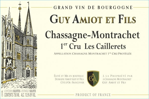 Domaine Guy Amiot et Fils Chassagne-Montrachet, Premier Cru, Caillerets 2017-2