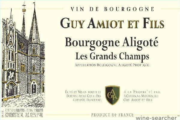 Domaine Guy Amiot et Fils Aligoté, Les Grands Champs 2017-2