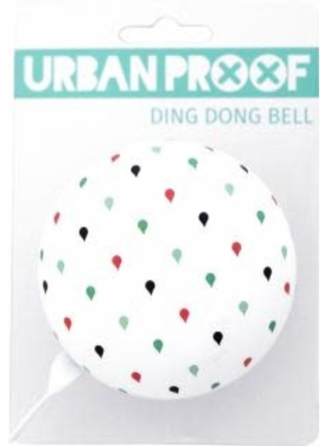 Campanello Urban Proof Ding Dong Bell Bianco Gocce