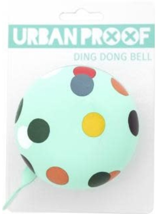 Campanello Urban Proof Ding Dong Bell Verde Palline Colorate