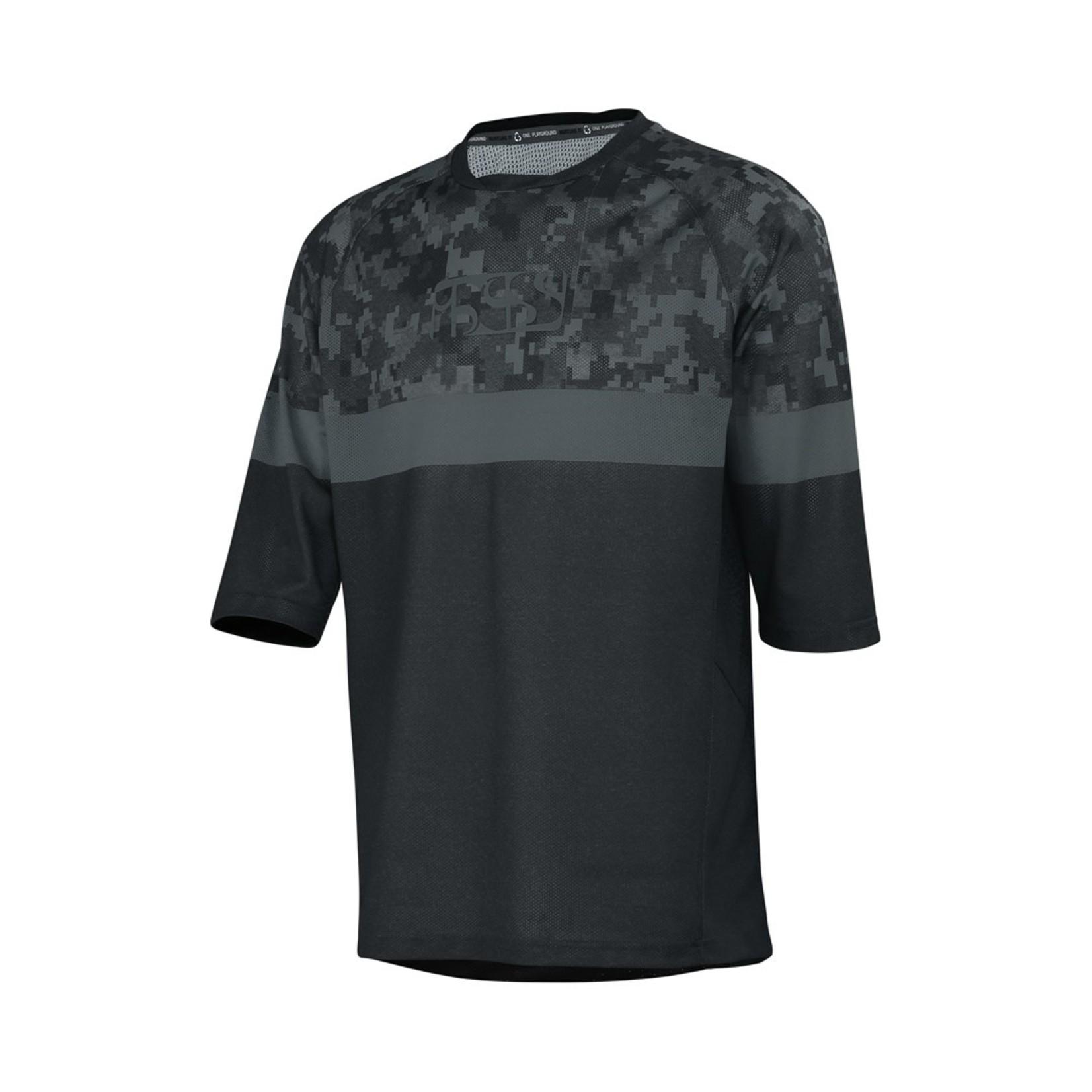 IXS IXS T-Shirt Carve Air Jersey Black Camo (S)